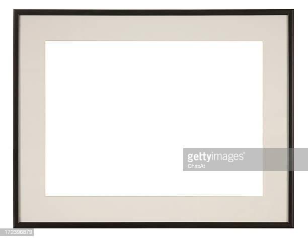 Marco vacío aislado sobre fondo blanco