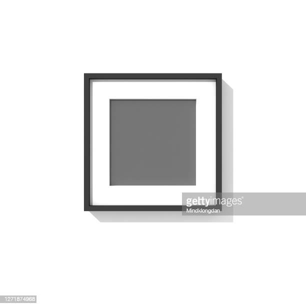 empty picture frame template set 3d