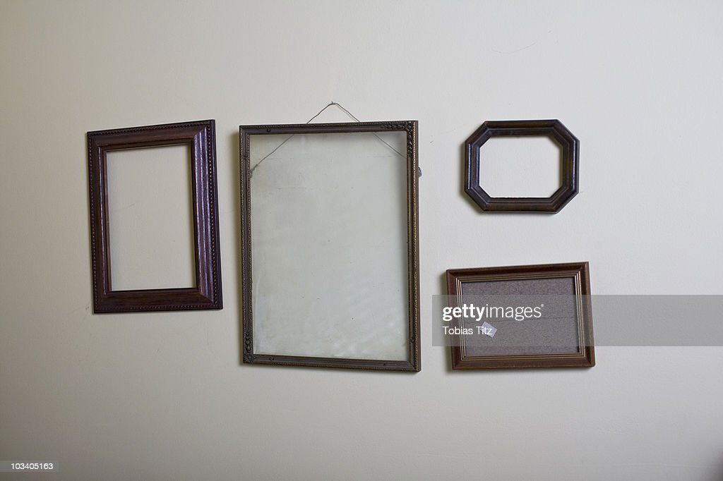 Empty Picture Frames Hanging On A Wall Stock Photo   Getty Images