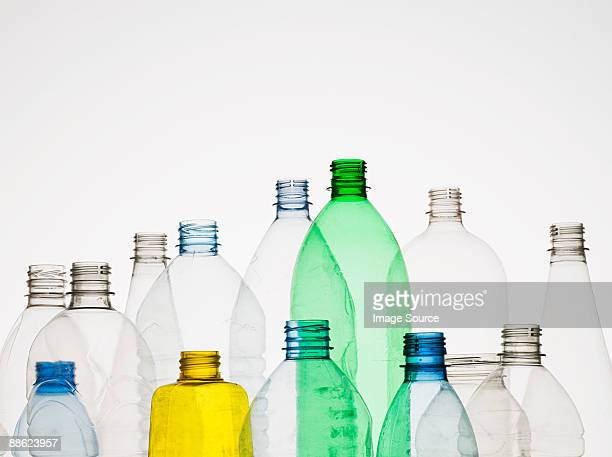 empty plastic bottles - bottle stock pictures, royalty-free photos & images