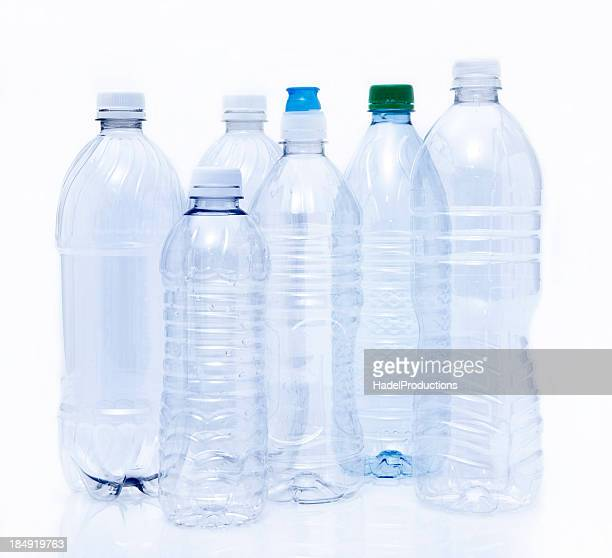 Empty Plastic Drinking Bottles ready for Recycling