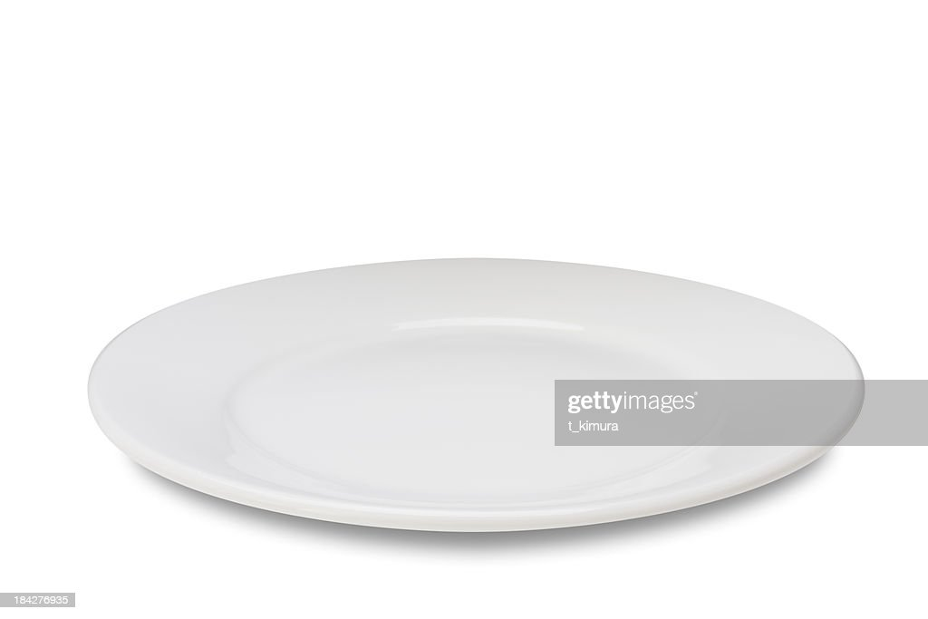 Empty plate on white : Stock Photo