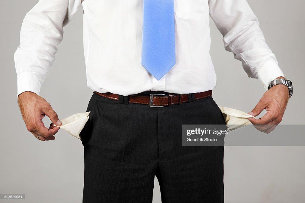 Empty pockets : Stock Photo