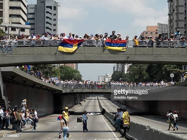 'Empty Pots' antigovernment demonstration is held in the Las Palmas city of Caracas Venezuela on March 8 2014