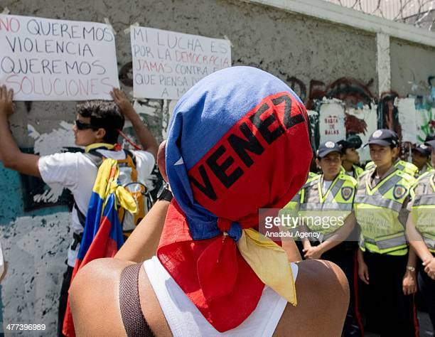 Empty Pots antigovernment demonstration is held in the Las Palmas city of Caracas Venezuela on March 8 2014