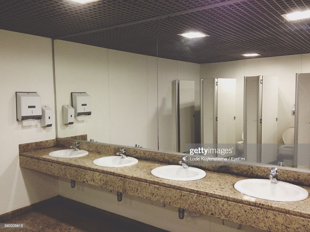 Public Restroom In A Large Shopping Mall In Istanbul High