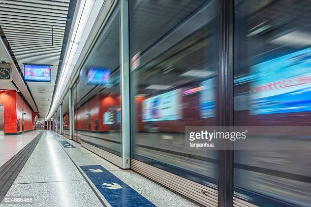 Empty Railroad Platform