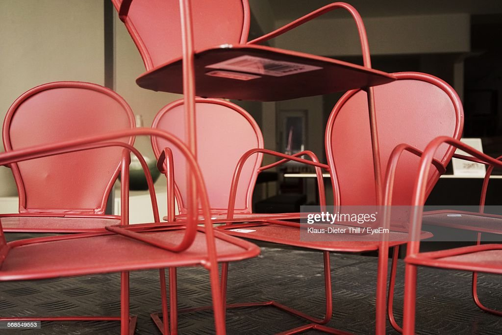 Empty Red Chairs In Room : Stock Photo