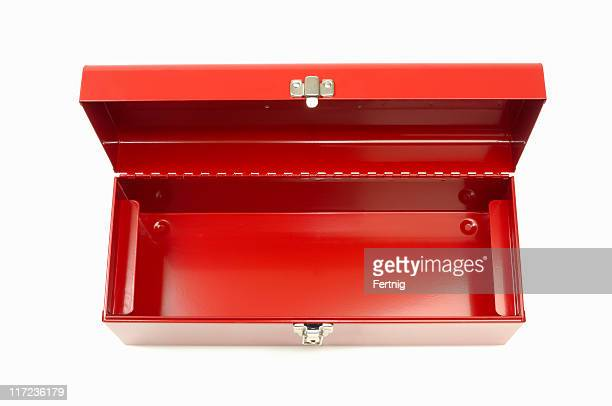 empty red toolbox - toolbox stock photos and pictures