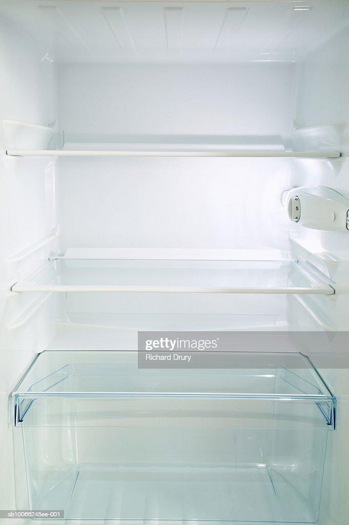 Empty refrigerator : Stock Photo
