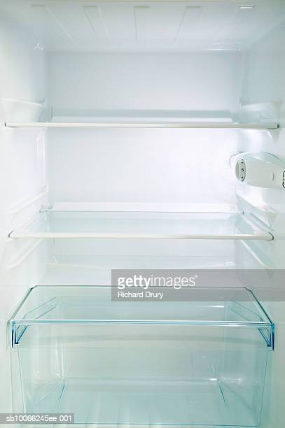 empty refrigerator - refrigerator stock pictures, royalty-free photos & images