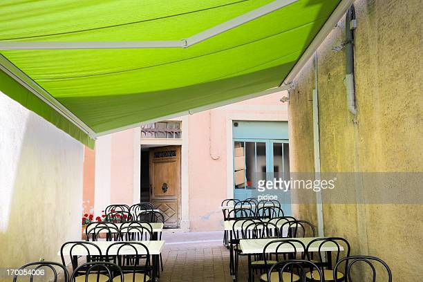 empty restaurant patio terrace