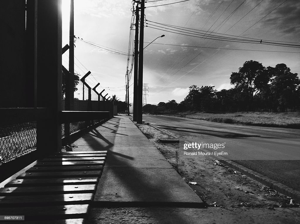 Empty Road Against Sky : Stock Photo