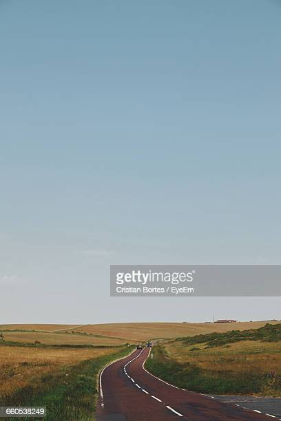 empty road along countryside landscape - bortes stock pictures, royalty-free photos & images