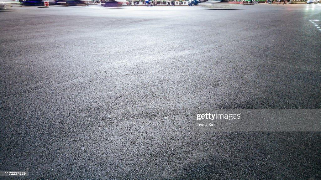 Empty Road at night : Stock Photo