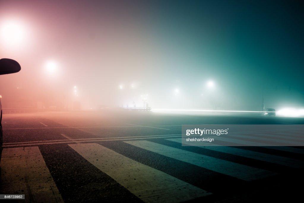 empty road at night : Stock-Foto