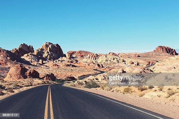 Empty Road At Valley Of Fire State Park
