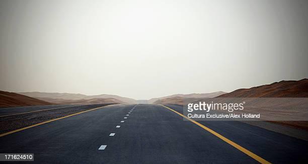 Empty road, Dubai, United Arab Emirates