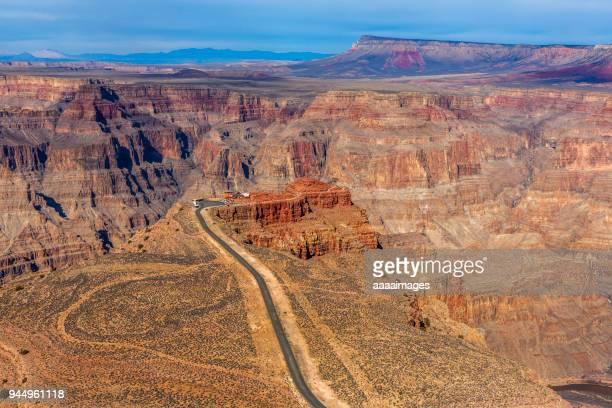 empty road going through Grand Canyon,Arizona,USA