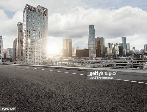 empty road in beijing bcd - london architecture stock pictures, royalty-free photos & images