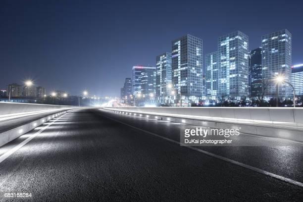 Empty Road in beijing bcd
