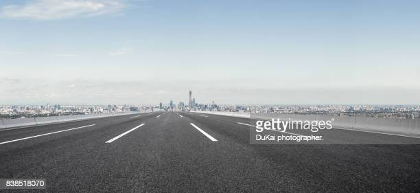 empty road in beijing cbd - major road stock pictures, royalty-free photos & images