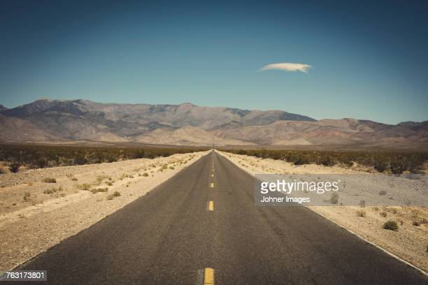 Empty road in desert