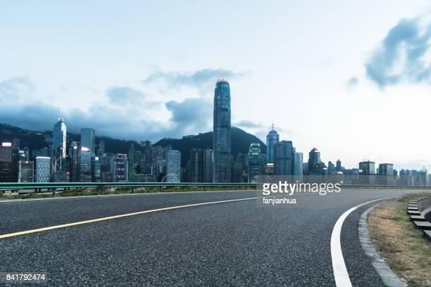 empty road in Hong Kong victoria