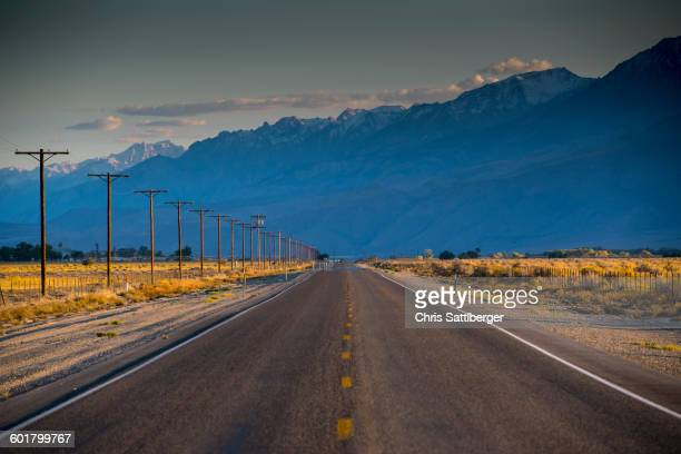 Empty road in remote landscape