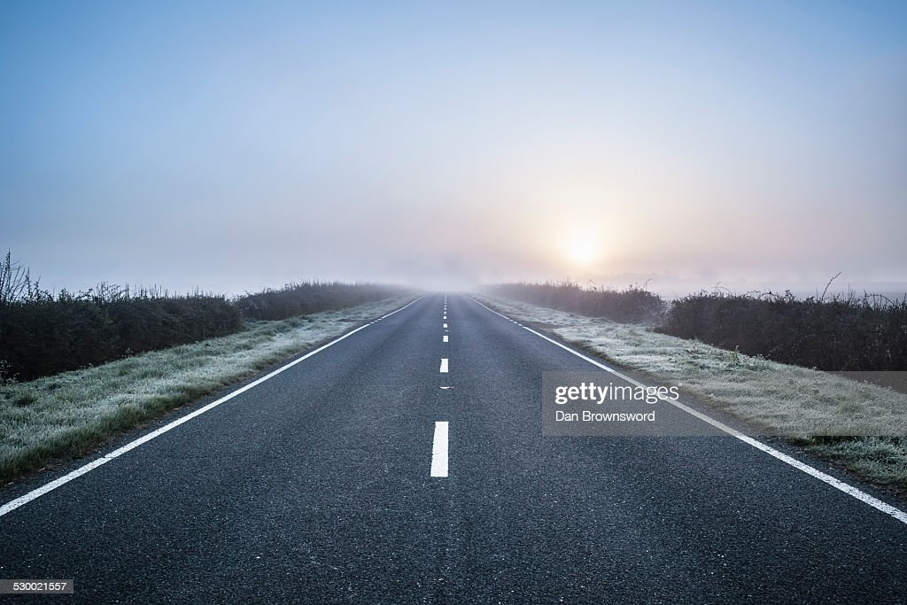 Empty road in rural setting, Northamptonshire, England : Stock-Foto