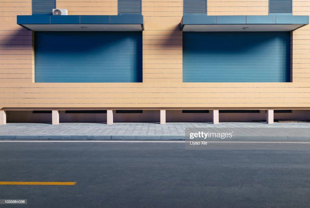 Empty road in the street : Foto stock