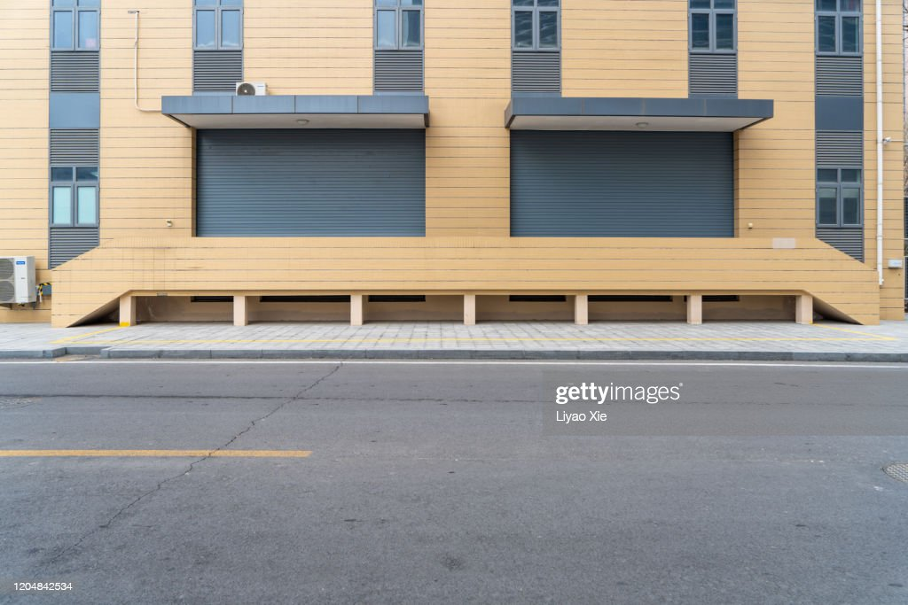 Empty road in the street : Stock Photo