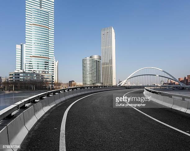 Empty Road in tianjin