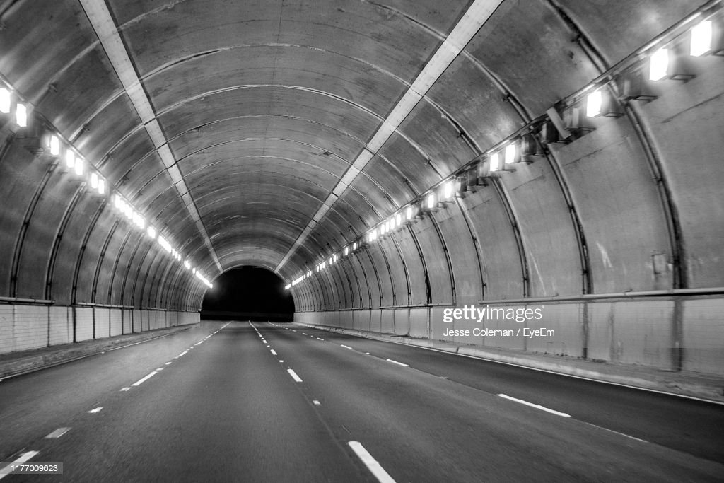 Empty Road In Tunnel : Stock Photo