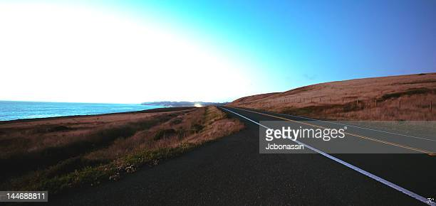 empty road near cambria - jcbonassin stock pictures, royalty-free photos & images