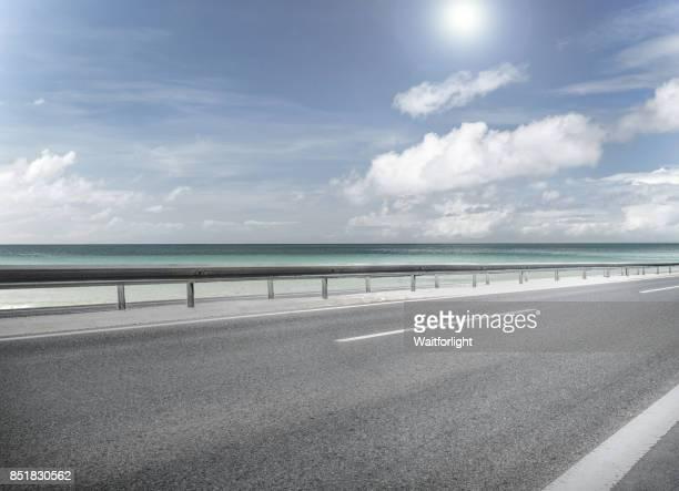 empty road on beach