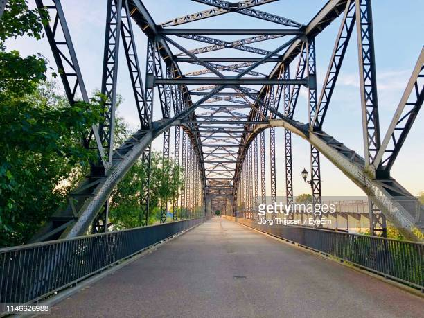 empty road on bridge - man made structure stock pictures, royalty-free photos & images