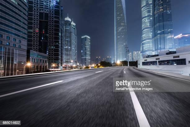 Empty Road, Shanghai, China