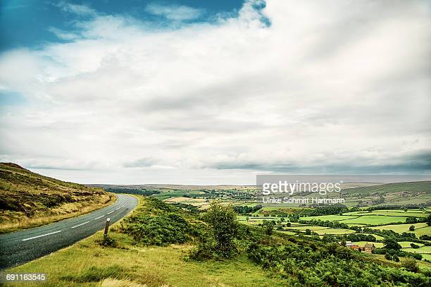 Empty road through North Yorkshire Moors