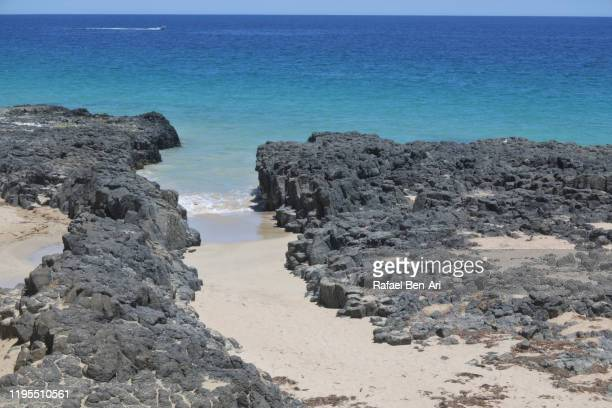empty rocky beach in western australia - rafael ben ari stock pictures, royalty-free photos & images