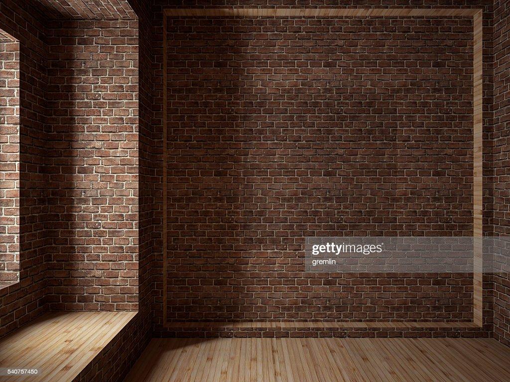 Empty room, 3D render : ストックフォト