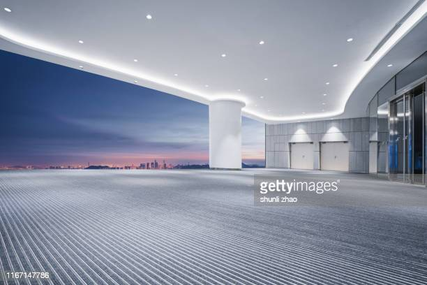 empty room, 3d rendering - showroom stock pictures, royalty-free photos & images