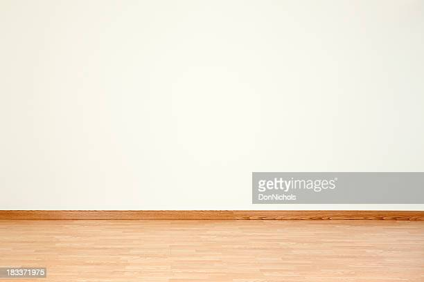 empty room and blank wall - wooden floor stock pictures, royalty-free photos & images