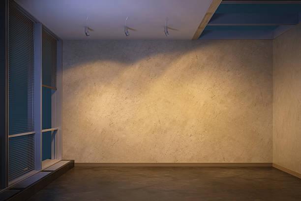 Tropical Modern Villa Empty Room At Evening