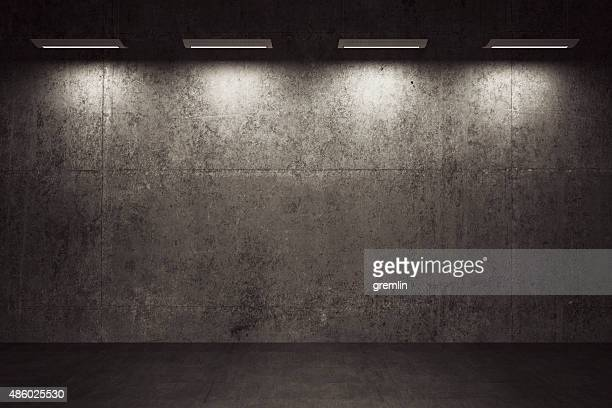 Empty room, concrete walls and floor