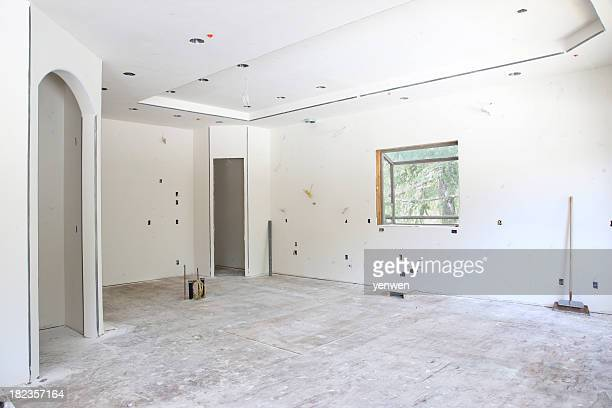 empty room in remodel - doorway stock pictures, royalty-free photos & images