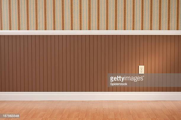 empty room - wainscoting stock photos and pictures