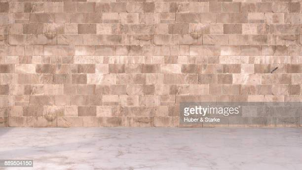 empty room - sandstone wall stock pictures, royalty-free photos & images
