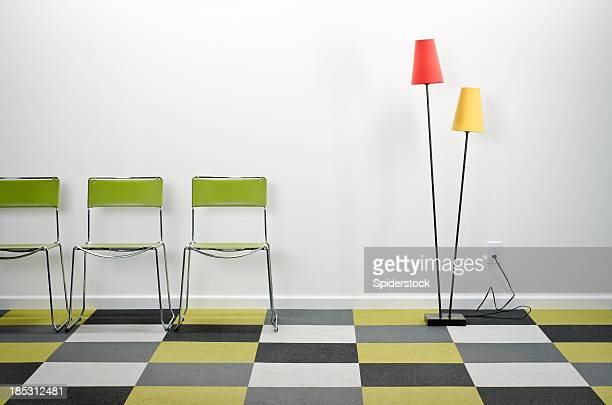 Empty Room With Checkered Carpeting