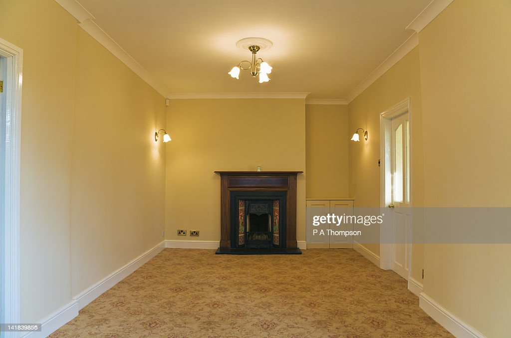 Groovy Empty Room With Open Victorian Fireplace Stock Photo Getty Download Free Architecture Designs Griteanizatbritishbridgeorg